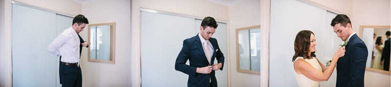 CENTRAL DOCKSIDE APARTMENTS WEDDING GROOM DRESSING