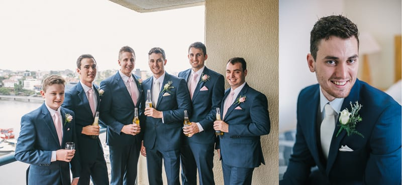 CENTRAL DOCKSIDE APARTMENTS WEDDING GROOMSMEN