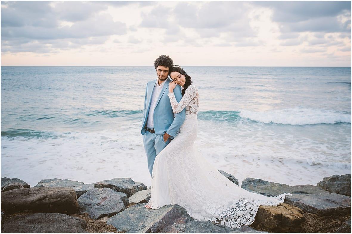 Moffat Beach Bride and Groom Sunshine Coast