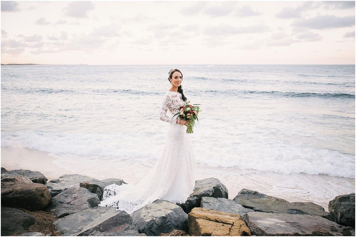 Moffat Beach Bride Sunshine Coast Ocean