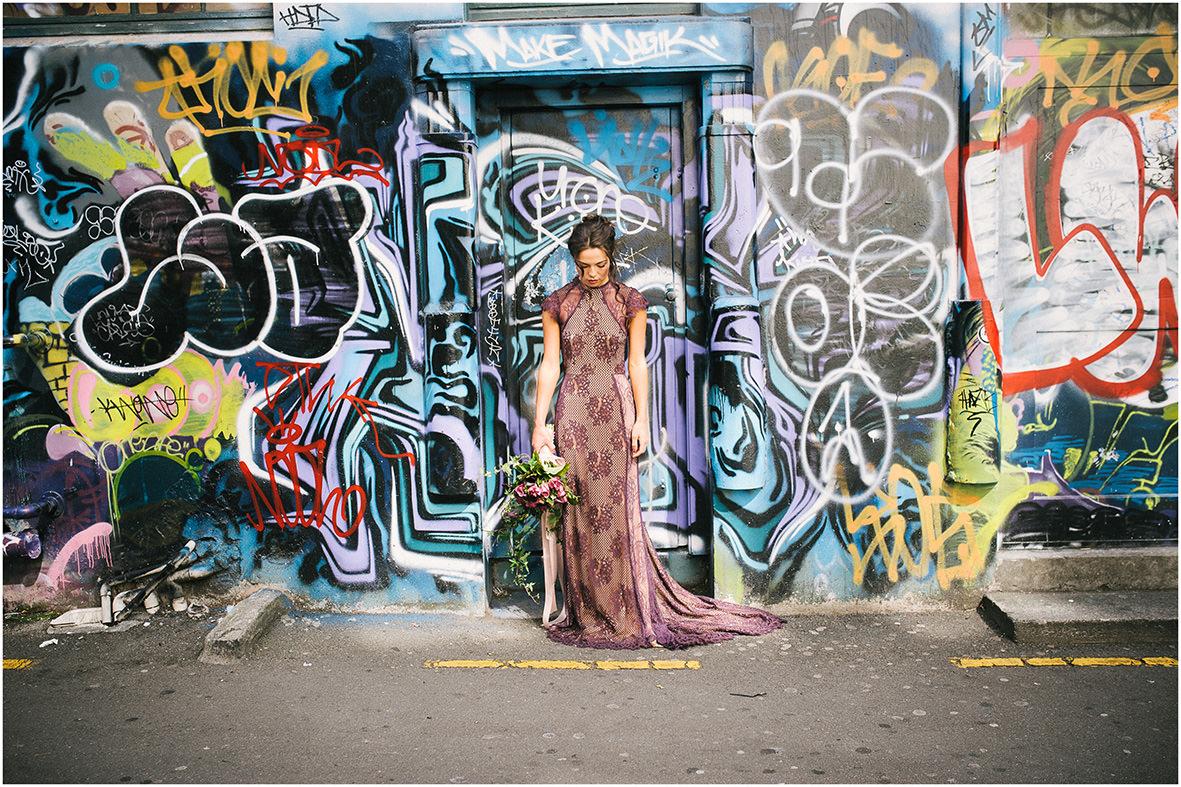 Wellington Bride Purple dress flowers ally