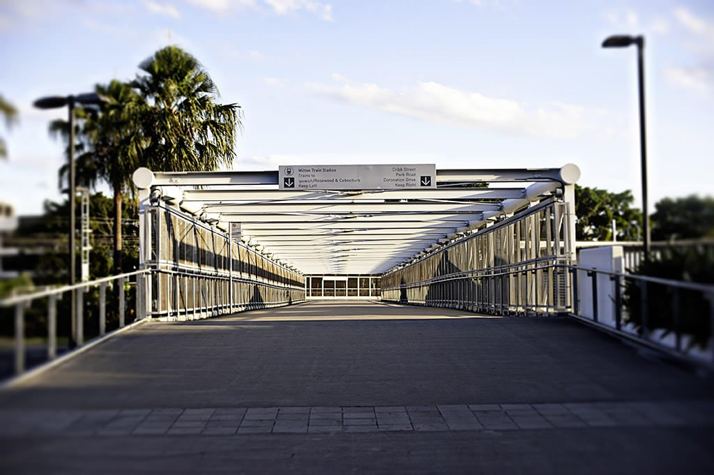 Bridge to Milton train Station Suncorp Terri Hanlon Photography