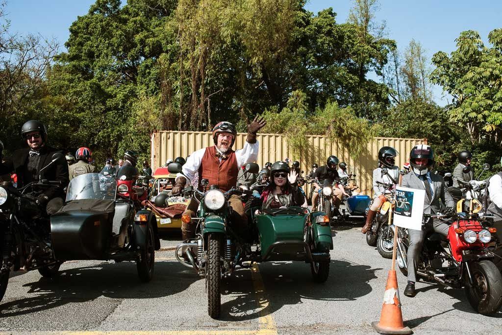 Side cart Distinguished Gentlemen's Ride Brisbane 2019