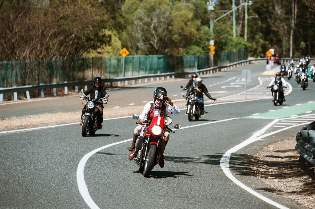 Leader rider Mt Cootha Distinguished Gentlemen's Ride Brisbane 2019