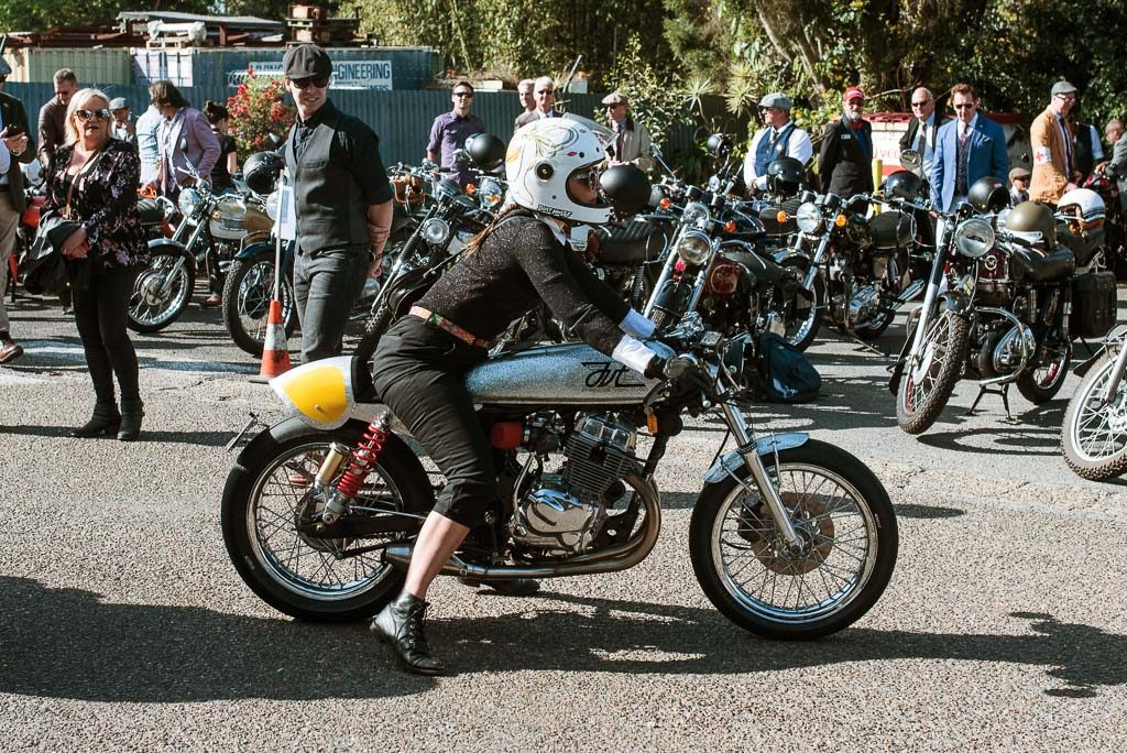 Dapper lady Distinguished Gentlemen's Ride Brisbane 2019