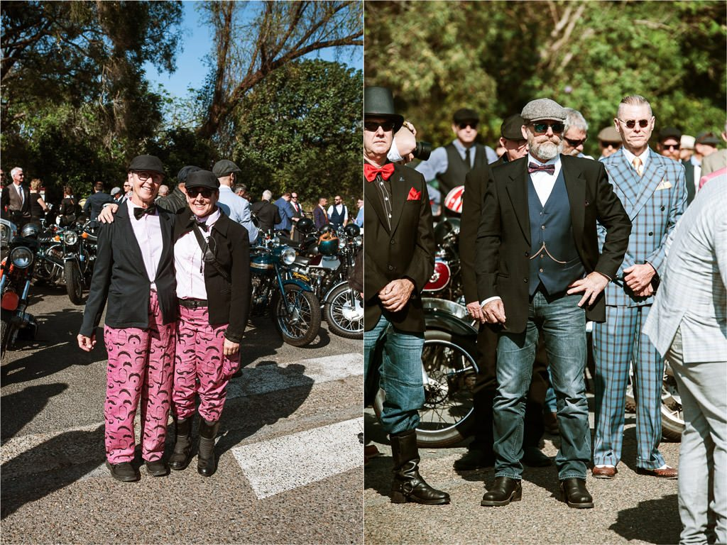 Dapper men and women Distinguished Gentlemen's Ride Brisbane 2019