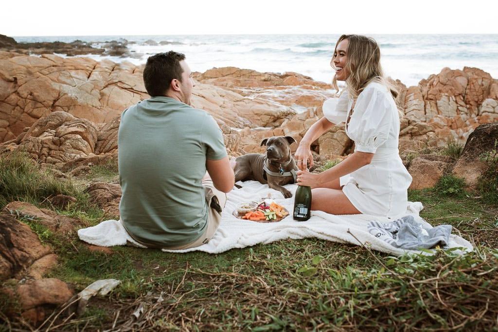 Picnic and champagne on the Sunshine Coast