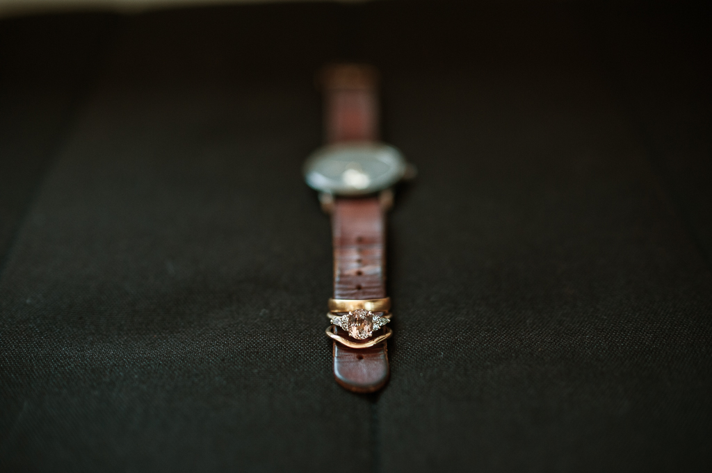 Watch with rings displayed Maleny Elopement - Terri Hanlon Photogrpahy