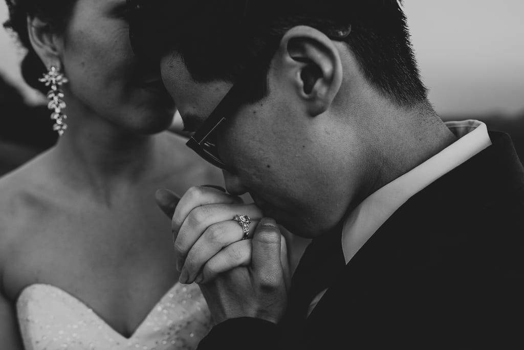 Terri Hanlon Photography - Couple Kissing at One Tree Hill Maleny