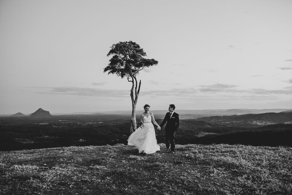 Terri Hanlon Photography - Couple at One Tree Hill Maleny Elopement