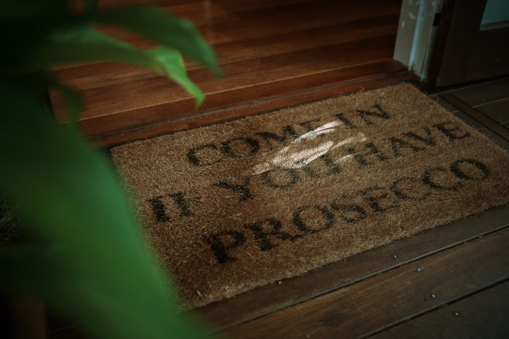 Welcome Mat vat the tiny house