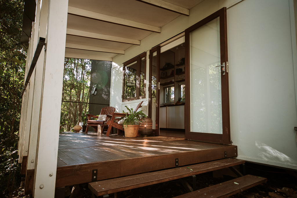 The deck of the Maleny Tiny House